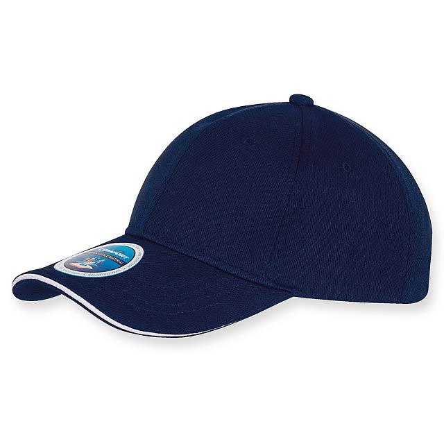 COOL COMFORT baseballová čepice z funkčního materiálu, COFEE, Modrá - modrá
