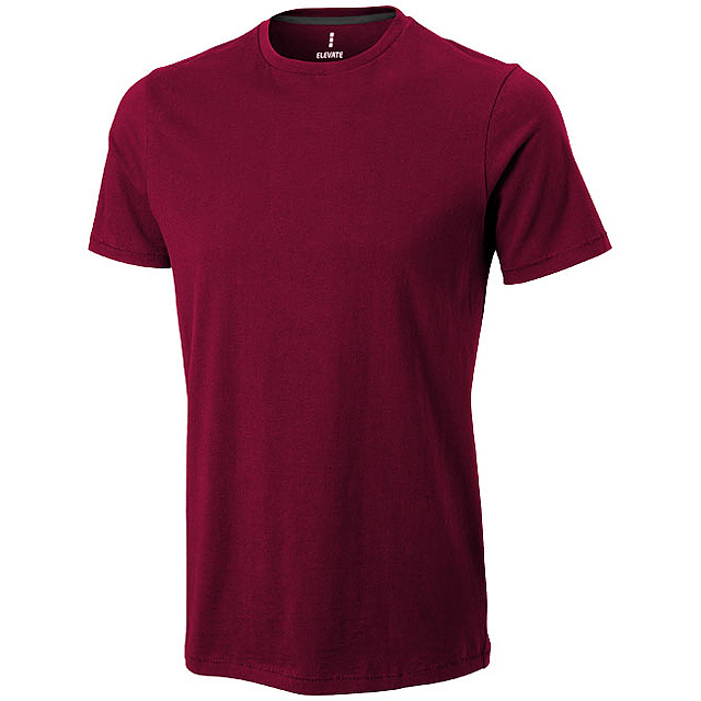 Pánské triko Nanaimo s krátkým rukávem - vínová