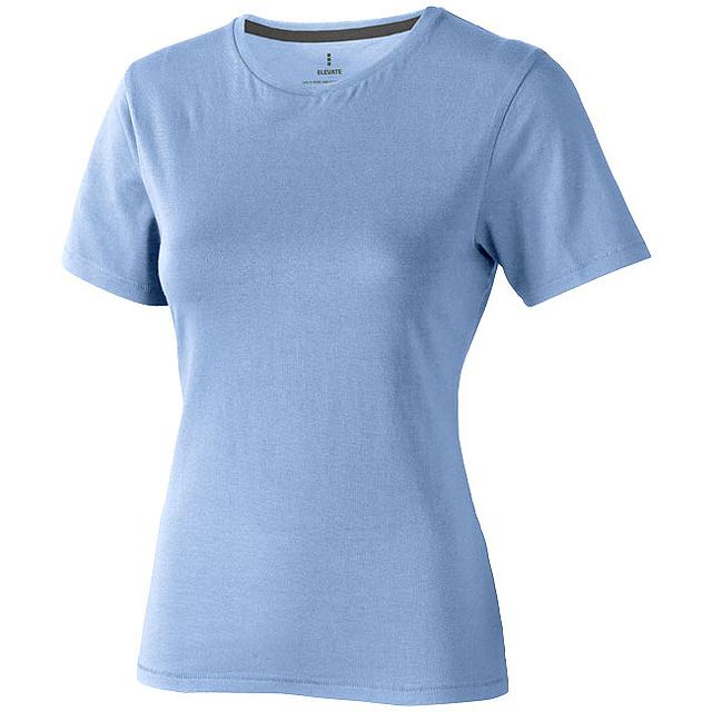 Dámské triko Nanaimo s krátkým rukávem - nebesky modrá