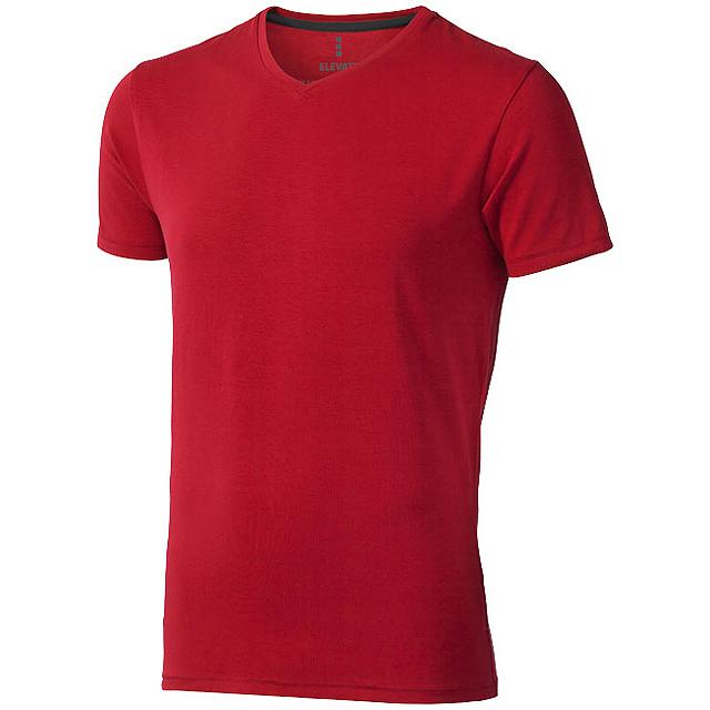 Pánské triko Kawartha s krátkým rukávem, organická bavlna - červená
