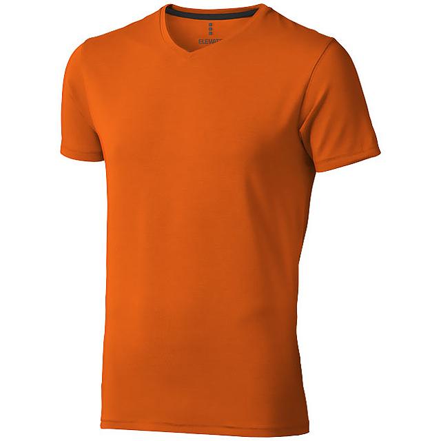 Pánské triko Kawartha s krátkým rukávem, organická bavlna - oranžová