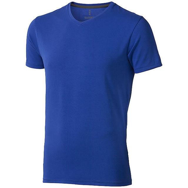 Pánské triko Kawartha s krátkým rukávem, organická bavlna - modrá