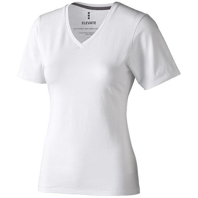 Dámské triko Kawartha s krátkým rukávem, organická bavlna - bílá