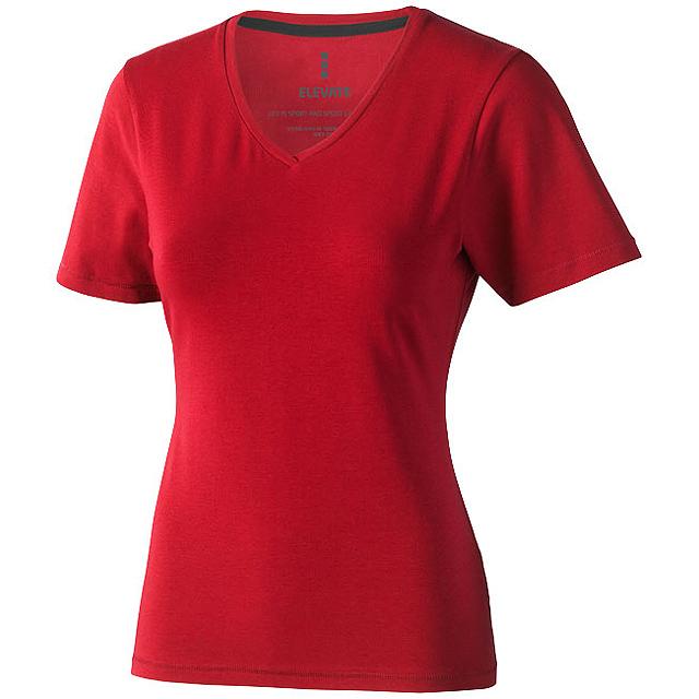Dámské triko Kawartha s krátkým rukávem, organická bavlna - červená