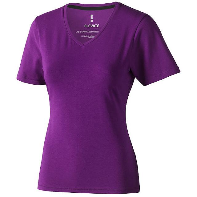 Dámské triko Kawartha s krátkým rukávem, organická bavlna - fialová