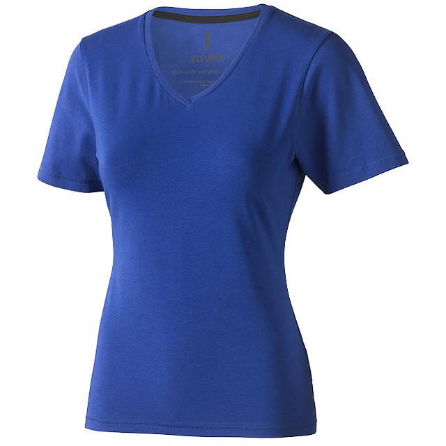 Dámské triko Kawartha s krátkým rukávem, organická bavlna - modrá