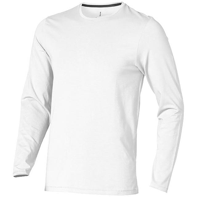 Pánské triko Ponoka s dlouhým rukávem, organická bavlna - bílá