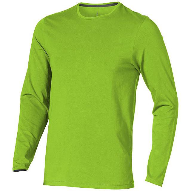 Pánské triko Ponoka s dlouhým rukávem, organická bavlna - zelená