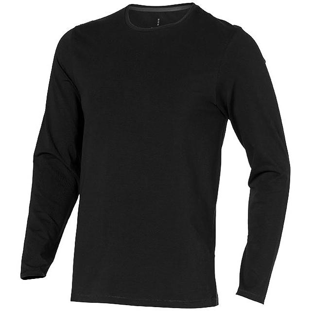 Pánské triko Ponoka s dlouhým rukávem, organická bavlna - černá