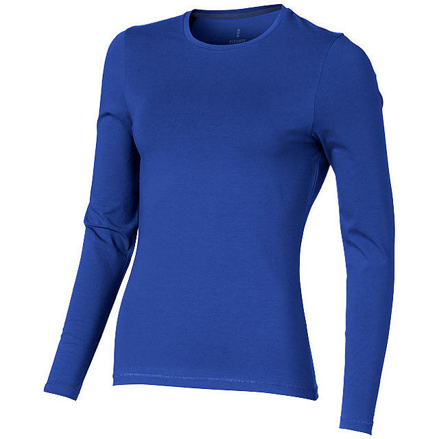 Dámské triko Ponoka s dlouhým rukávem, organická bavlna - modrá