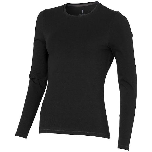 Dámské triko Ponoka s dlouhým rukávem, organická bavlna - černá