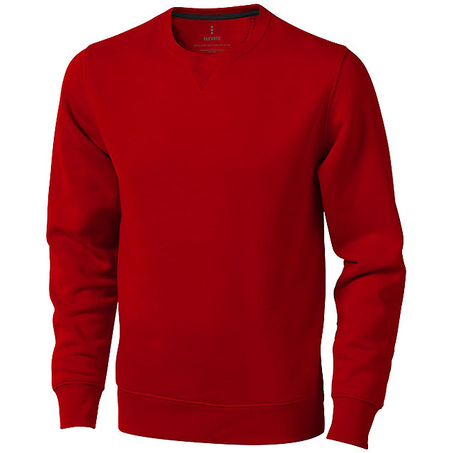 Surrey unisex svetr s kulatým výstřihem - červená
