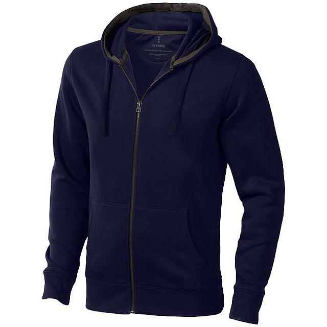 Mikina Arora s kapucí, zip v celé délce - modrá