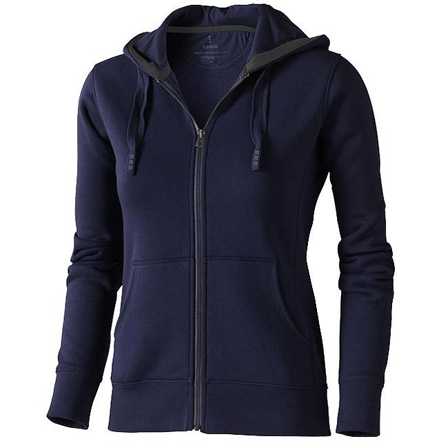 Dámská mikina Arora s kapucí, zip v celé délce - modrá