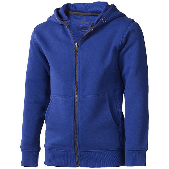 Arora celopropínací svetr na zip s kapucí pro děti - modrá