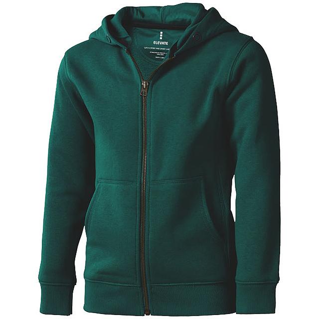 Arora celopropínací svetr na zip s kapucí pro děti - zelená