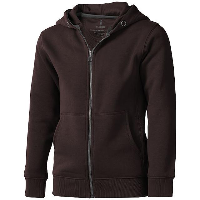 Arora celopropínací svetr na zip s kapucí pro děti - hnědá