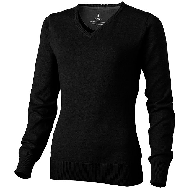 Dámský svetr Spruce s véčkovým výstřihem - černá