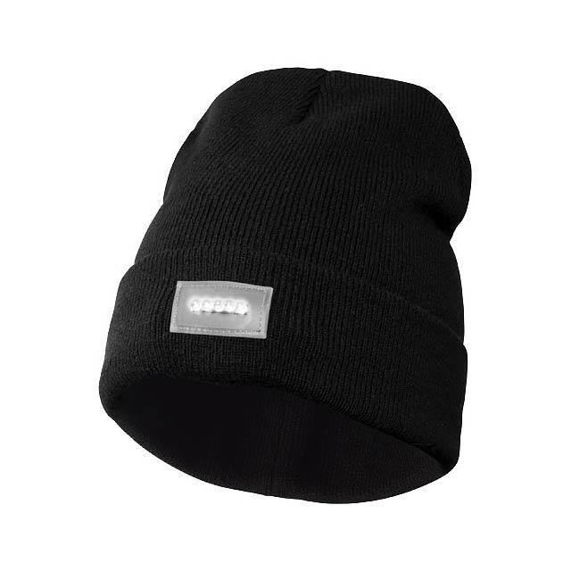 Čepice s LED čelovkou Lucina - černá