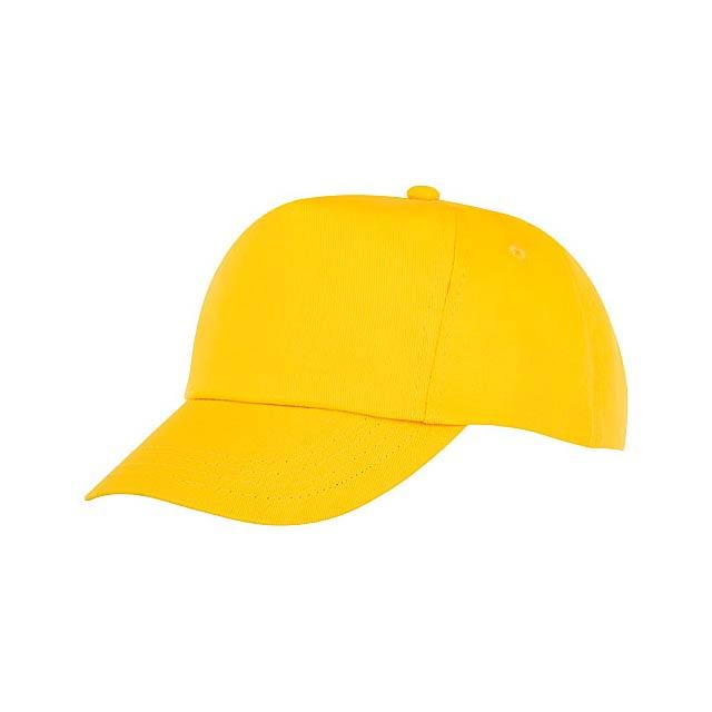 Feniks 5panelová dětská čepice - žlutá