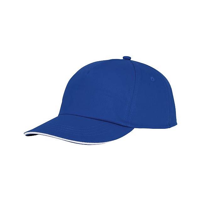 Styx 5panelová čepice sandwich - modrá