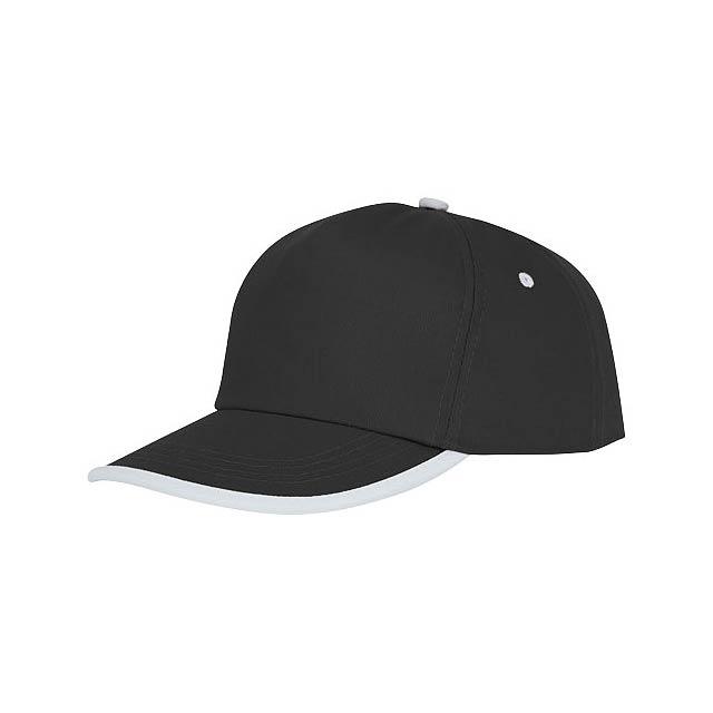 Nestor 5panelová čepice s kontrastní linkou - černá