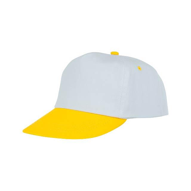 Icarus 5panelová dvoutónová čepice - žlutá