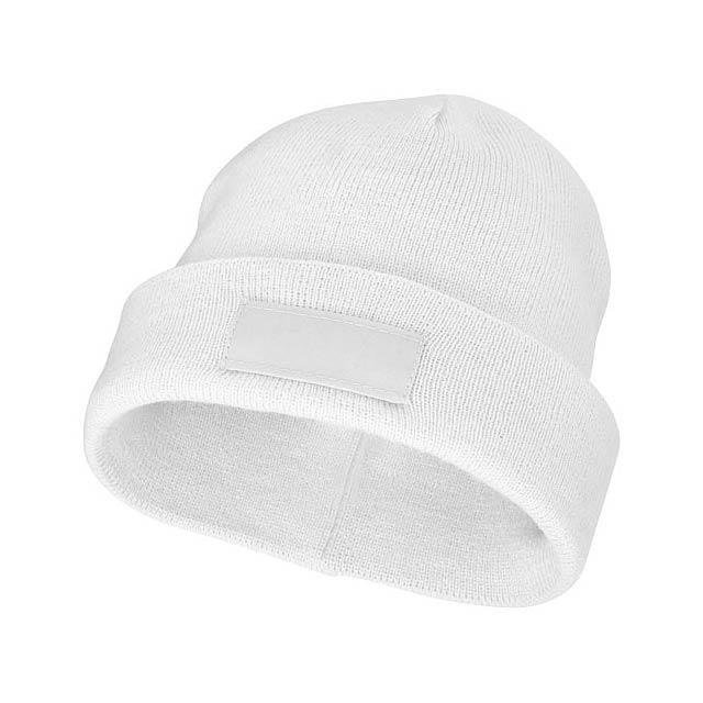 Čepice Boreas s políčkem na logo - bílá