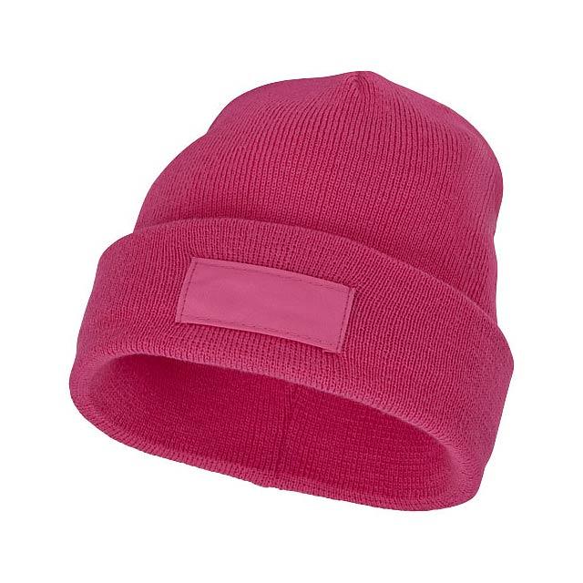 Čepice Boreas s políčkem na logo - fuchsiová (tm. růžová)