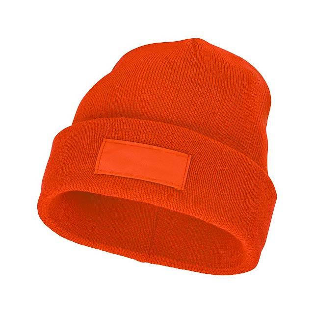 Čepice Boreas s políčkem na logo - oranžová
