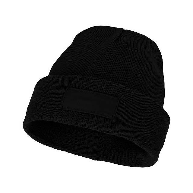 Čepice Boreas s políčkem na logo - černá
