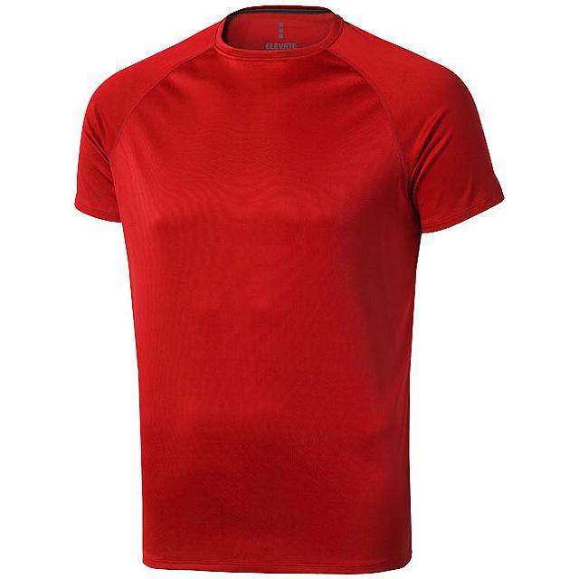 Pánské Tričko Niagara s krátkým rukávem, cool fit - červená