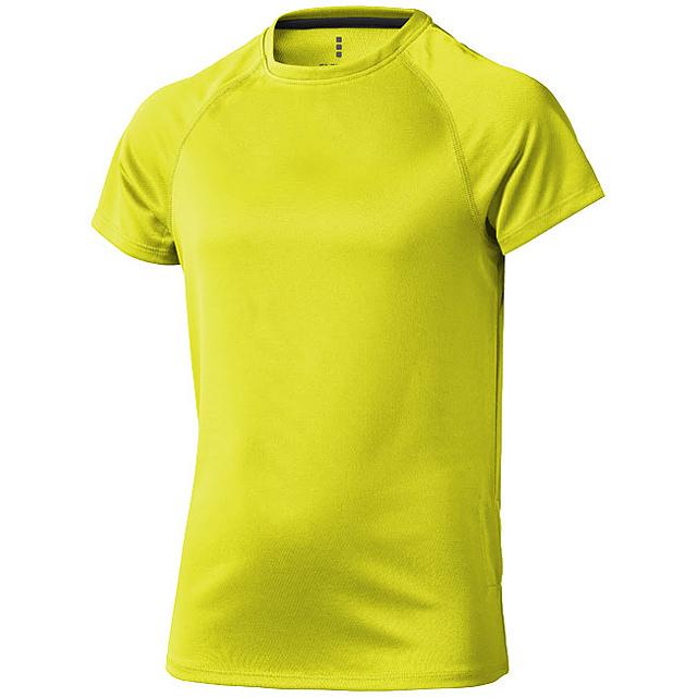 Dětské triko Niagara s krátkým rukávem, s povrchovou úpravou - žlutá