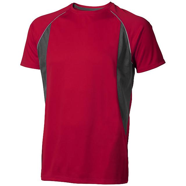 Pánské Tričko Quebec s krátkým rukávem, cool fit - červená