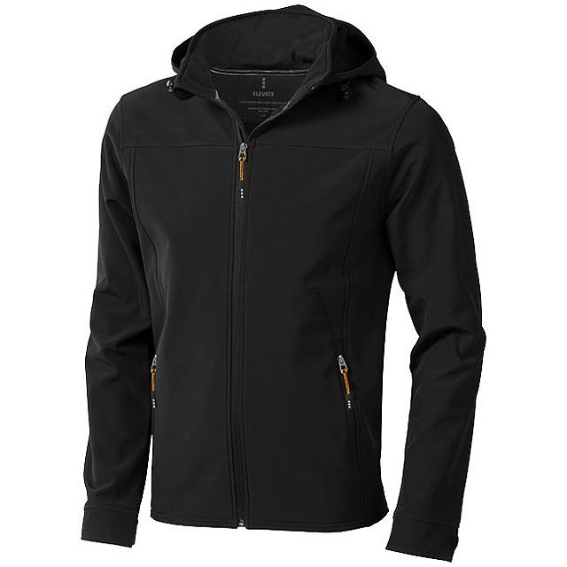Softshellová bunda Langley - černá