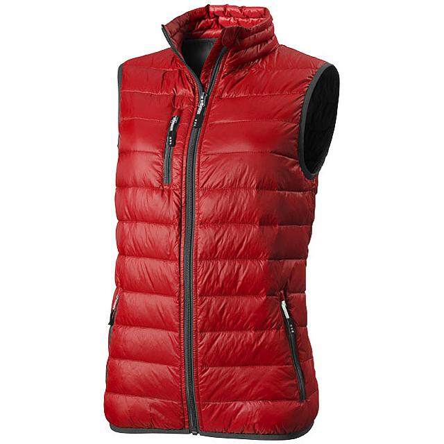 Dámská lehká péřová vesta Fairview - červená