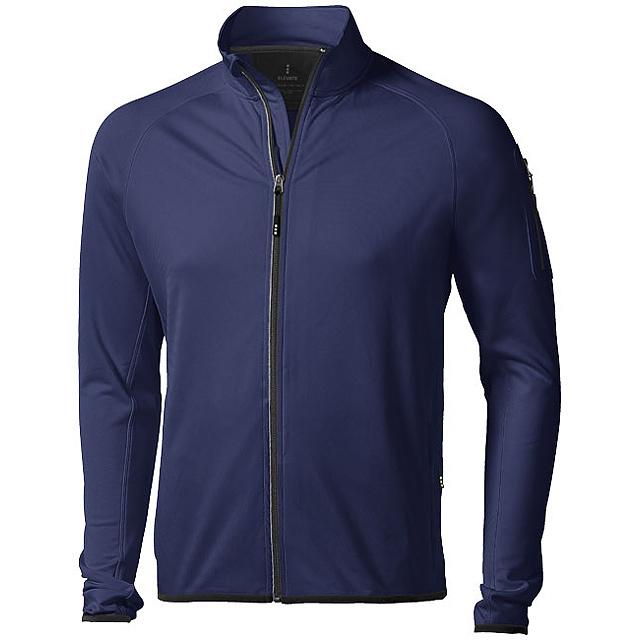 Bunda Mani z materiálu power fleece se zipem v celé délce - modrá