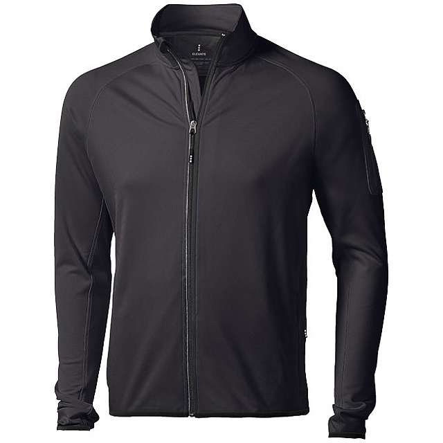 Bunda Mani z materiálu power fleece se zipem v celé délce - černá