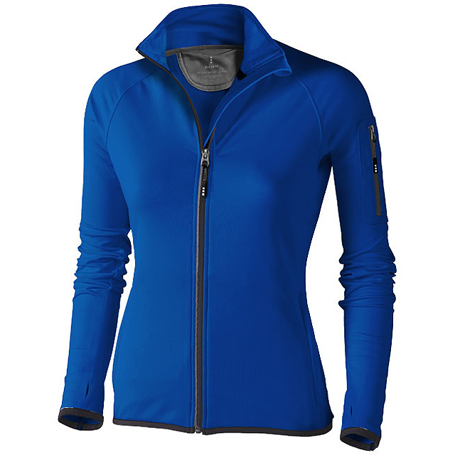 Dámská bunda Mani z materiálu power fleece se zipem v celé d - modrá