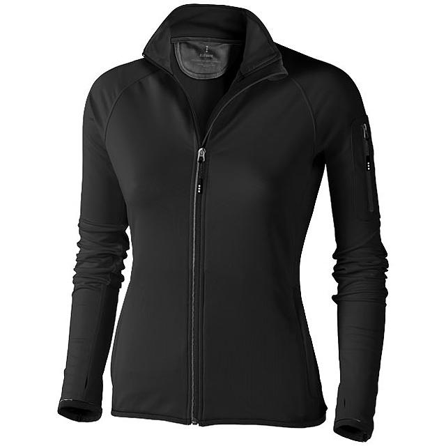 Dámská bunda Mani z materiálu power fleece se zipem v celé d - černá