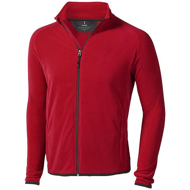 Bunda Brossard z materiálu mikro fleece - červená
