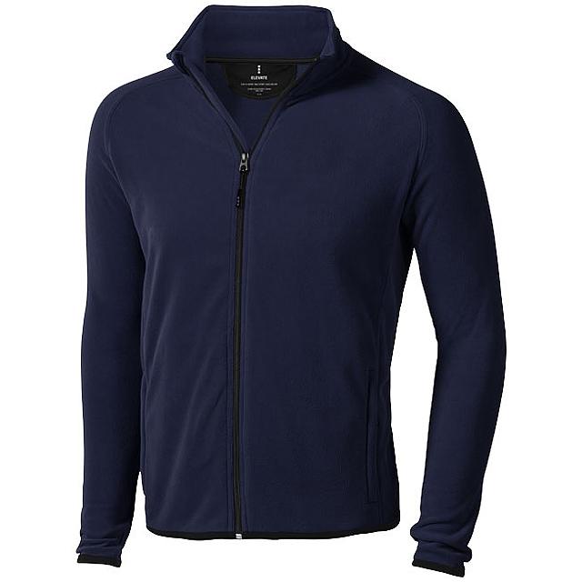 Bunda Brossard z materiálu mikro fleece - modrá