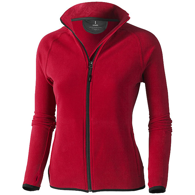 Dámská bunda Brossard z materiálu mikro fleece - červená