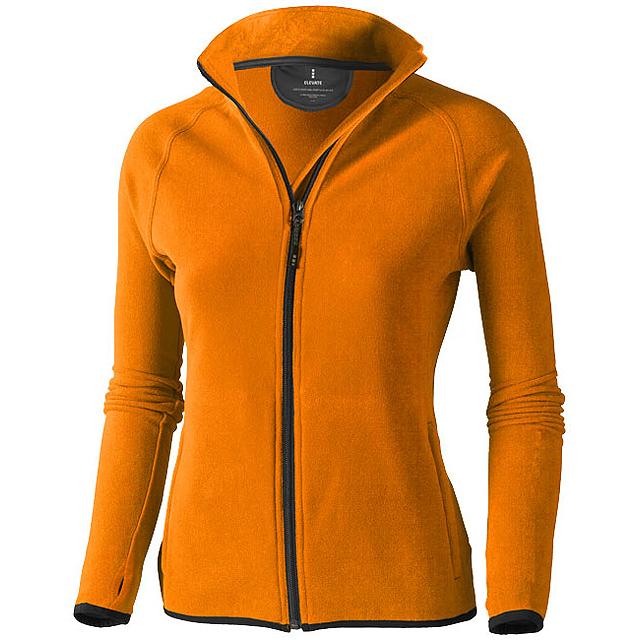 Dámská bunda Brossard z materiálu mikro fleece - oranžová