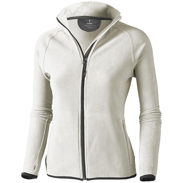 Dámská bunda Brossard z materiálu mikro fleece - šedá
