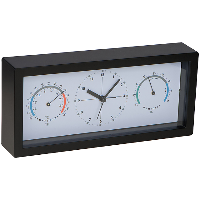 Stolové hodiny - čierna