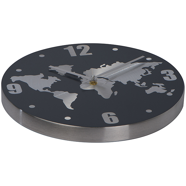 Aluminium wall clock - grey