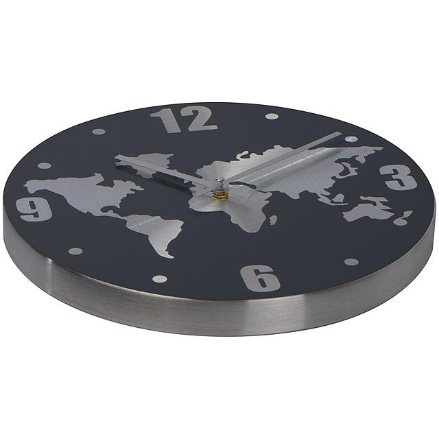 Hliníkové nástenné hodiny - šedá