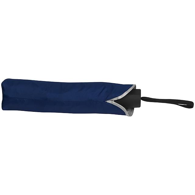 Deštník se stříbrným vnitřkem - modrá