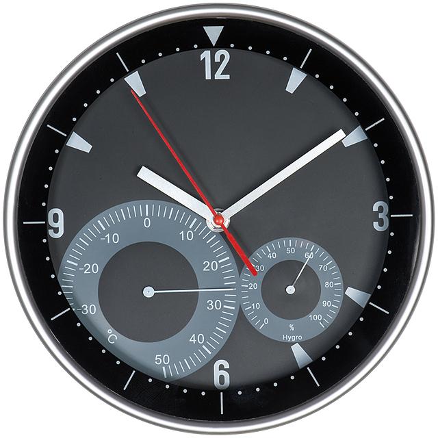 Moderné nástenné hodiny - čierna